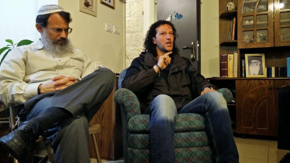 Rabbi Hanan Schlesinger and Ali Abu Awwad